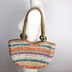 Orvis Straw Hobo Bag